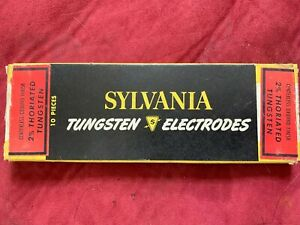 Sylvania Tig Welding Electrodes 2 Thoriated Tungsten Red 1 8 Made In Usa 9 Pcs