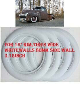 1950 s Chevy Pickup Hot Rod Rat Rod Roadkill 16 Rim 3 15 80mm Wide Whitewall