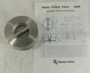 1 New Davis Valve 6063 Stainless Steel Wafer Check Valve Size 2 Nnb