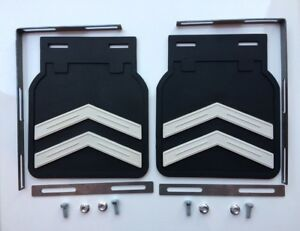 Fit For Vw Old Beetle Splash Guard Deflector Mud Flaps Chevron Style Set Of2