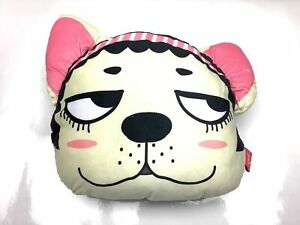 Girl Cute Dog Plush Car Head Neck Rest Travel Pillow Headrest Gift New