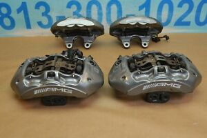 2013 Mercedes E63 Cls63 Amg Brembo Calipers Front Rear 6 4 Piston Grey