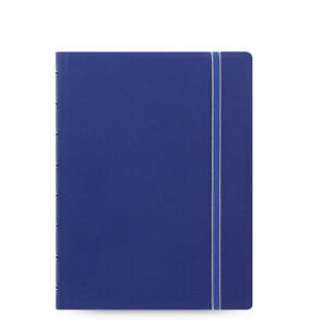 New Filofax A5 Refillable Leather look Ruled Notebook Diary Blue 115009
