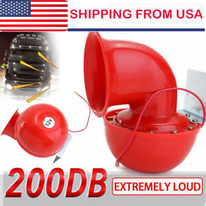 200db 12v Super Loud Sound Electric Bull Air Horn For Motorcycle Car Truck Taxi