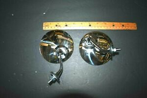 4 Pair Classic Mg cobra British Gt Style Fender Or Door Mounted Chrome Mirror