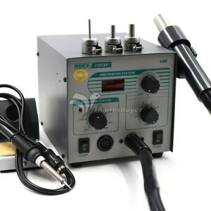New Quick 706w 2 In 1 Hot Air Rework Station 580w Soldering Station 3 Nozzles z