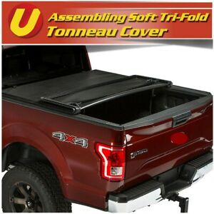 For 2005 2015 Toyota Tacoma 5ft 60 Bed Soft Assembly Tri fold Tonneau Cover