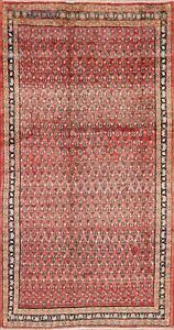 Paisley Geometric Botemir Semi Antique Oriental Area Rug Hand Knotted 4x8 Carpet