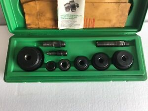 Greenlee 1806 Ratchet Knock Out Punch Set 1 2 To 2 Conduit Slug Buster