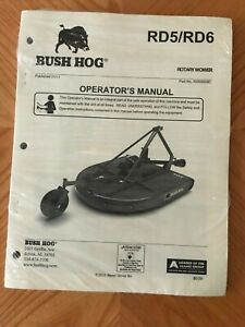 Bush Hog Rd5 rd6 Rotary Mower Operator s Manual 01 11 50068908c