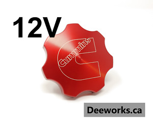 Anodized Billet Oil Cap For Dodge Cummins 5 9 6bt12v Free Usa Shipping Red