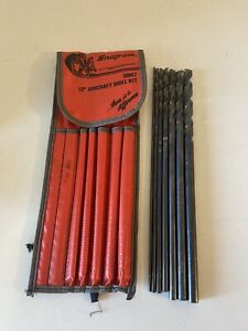 Snap on Dbk7 12 Aircraft Drill Kit 7pc Excellent Condition fast free Shipping