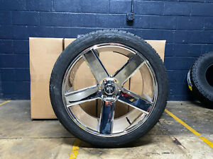 24 Dub Baller Chrome Wheels Rims Tire Package 6x135 Ford F150 Expedition