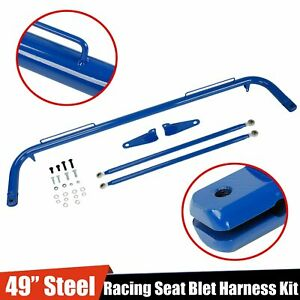 Stainless Steel 49 Racing Safety Seat Belt Chassis Roll Harness Bar Rod Blue