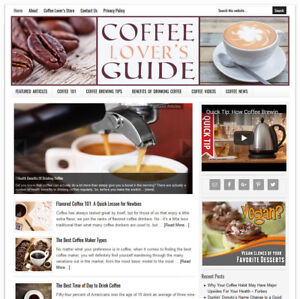Coffee Lover s Turnkey Website Business For Sale W Auto Content Updates