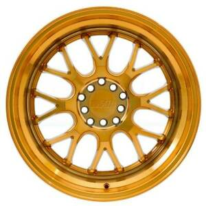 4 new 20 F1r F21 Wheels 20x8 5 5x114 3 5x120 15 Machine Gold Rims