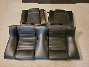 2005 2009 Ford Mustang Coupe Leather Rear Seats Black Oem 05 09 Nice