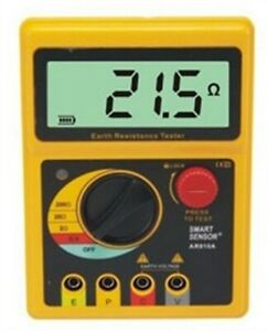 Digital Earth Ground Resistance Meter Tester Range 0 200 Ohm Ar4105a New Sk