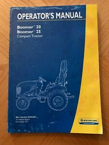New Holland Boomer 20 Boomer 25 Compact Tractor Operator s Manual nov 2011