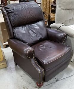 Lane Genuine Leather Recliner Chair Armchair Nail Studded Design