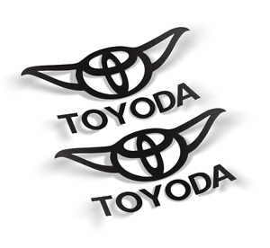Toyoda toyota Decal Vinyl Sticker 2 Items Free Shipping