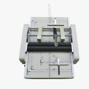 A3 Paper Booklet Binding Folding Machine Manual Booklet Stapler New Ee