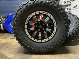 17x9 Fuel D629 Tactic 35 Mt Wheels Rims Tires Package 5x5 Jeep Wrangler Jk Jl
