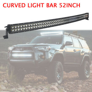 Curved 52inch 300w Led Light Bar Flood Spot Combo Driving Offroad Ute Suv 4wd Us