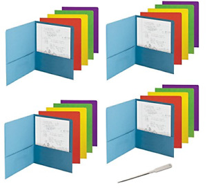 Smead Economy Two pocket File Folder Up To 100 Sheets Letter Size Assorted 50