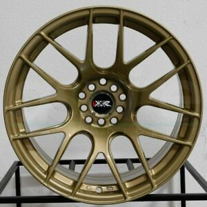 4 New 17 Xxr 530 Wheels 17x7 5x100 5x114 3 35 Gold Rims