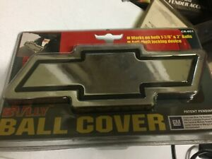 Chevrolet Chevy Chrome Trailer Towing Hitch Ball Cover Chevy Logo