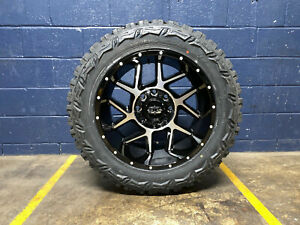 20x10 Vision Sliver 33 Mt Wheels Rims Tires Package 8x170 Ford Super Duty F350