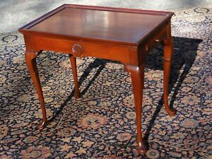 Hickory Chair Company Mahogany Tea Table End Table Candle Stand