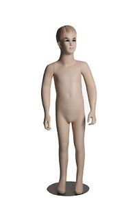 Boys 12 Year Old Kids Fiberglass Mannequin With Realistic Face And Molded Hair
