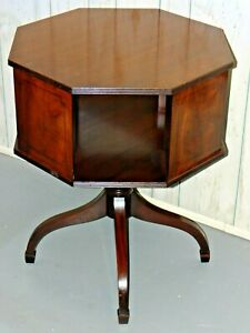 Beacon Hill Collection Mahogany End Table Spinning Bookshelf Revolving Table