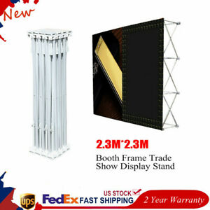 New Portable Pop up Booth Frame Trade Show Display Stand For Hotels 7 5x7 5ft
