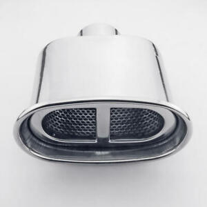 Resonated 2 25 Inlet Oval Out 304 Stainless Steel Exhaust Tip Polished Weld On