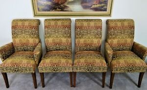 Set Of 4 Designmaster Furniture Of North Carolina Upholstered Dining Chairs