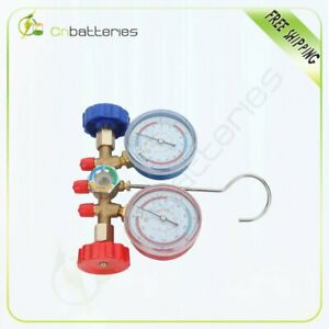 Manifold Gauge R134a R502a R22 R12 Refrigeration Air Conditioning Hvac Ac Tools