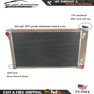 3 Row Aluminum Radiator Fit 1967 1972 1971 68 69 Chevy C10 C20 K20 C30 Pickup
