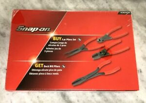 New Snap On Red 4 Piece Pliers Set Pl307acf61