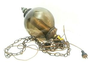 Vintage Mid Century Hanging Glass Ceiling Lamp