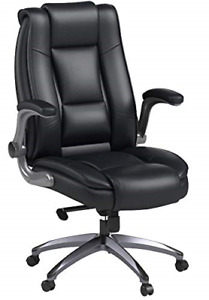 Office Chair High Back Leather Executive Computer Desk Chair Adjustable Lumbar