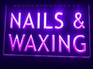 Nails Waxing Lighted Window Display Beauty Salon Led Sign