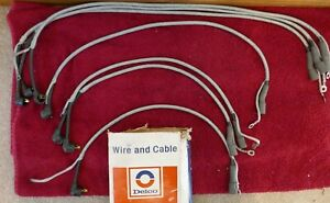 C1 1967 Corvette Nos Ac Delco Braided Ignition Wires 8912284 7 Wires Incomplete