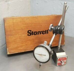 Starrett No 657d Magnetic Base With No 25 131 Dial Indicator W Wooden Case
