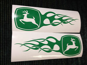 John Deere Flame Decals Stickers 2 6 X 8 For Mower Car Truck