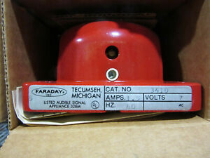 Faraday 3410 Red Bell Standard Electric Time P n 009843 New In Factory Box