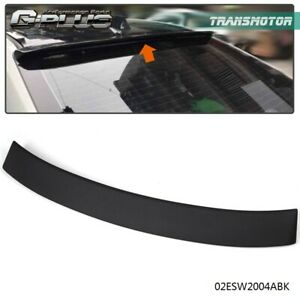 Black Abs Plastic For 09 13 Toyota Corolla Rear Window Roof Visor Spoiler Wing