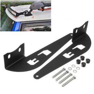 52 Inch Light Bar Roof Rack Top Mounts Windshield Curved Lamp Bracket For T A9e8